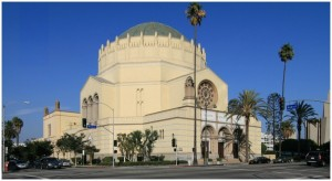 Wilshire Boulevard Temple in LA, restored with stone and concrete work from Preservation Arts