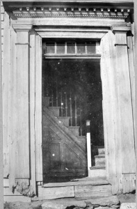 Old close up photographs of the front doorway enabled specification of proportions and many profiles.