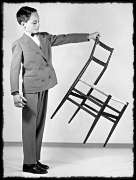 "Taken from a 1950's ad, demonstrating that these chairs are, indeed, ""superleggera""."