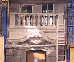 JUST ONE PIECE. Forming the focus of a new town house facade in Manhattan, this Italianate door header was carved from a single piece of limestone. Weighing just under two tons, it was fabricated from a block weighing over four times that. Monoliths can be very inefficient in their use of material, cost of installation and the risk they impose on the fabricator should the work be spoiled in production. The fabricator presented less costly alternatives but in vain, it turns out, and just as well. This intricately carved piece effectively unites its surroundings as only one big block of stone can. Photo courtesy of Dixie Cut Stone and Marble.