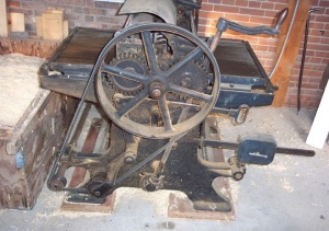 """Hall and Brown 24"""" Surface Planer, Patented in Saint Louis, Missouri, 1903"""