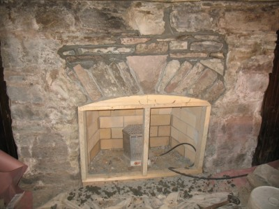 Completed arch and firebox.