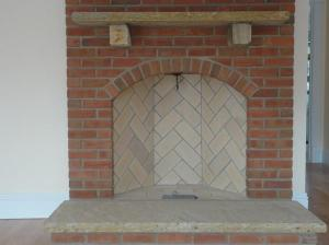 New Rumford fireplace in residence Acton, MA.