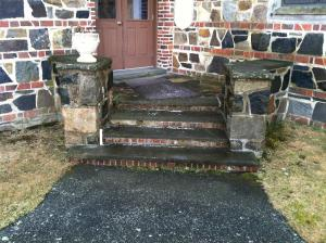 Side entrance, before.