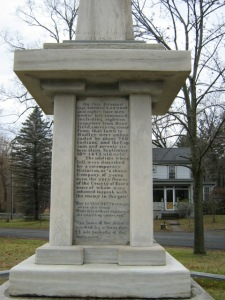 "The inscription, ""1838"", can just be made out at the base of the obelisk."