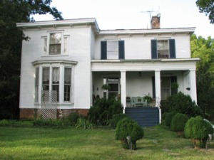 Front elevation Italianate farmhouse.