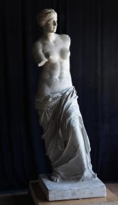 Restoration of full scale historic plaster casting of the Venus de Milo.
