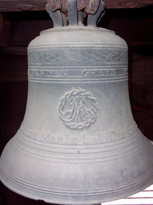 Unusual, historic bronze bell, old style. Brought from France.