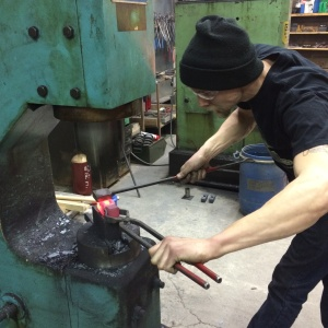 Haley Woodward will conduct a power hammer workshop and The Center for the Metal Arts.