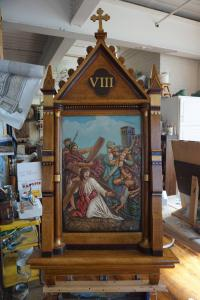 Restored VIII Station of the Cross.