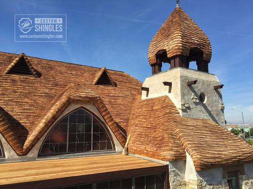 Bent Wood Shingle Roof Replacement 1933 Storybook Chapel