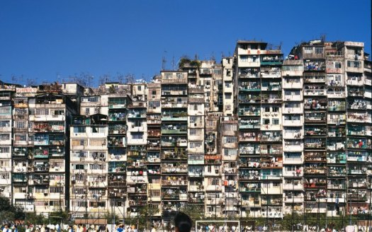 Kowloon Walled City elevation. They just kept building.