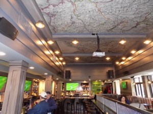 Acoustical Panels decorating the ceiling of a tavern